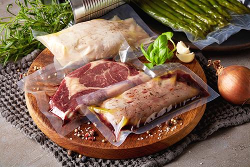vacuum packaged meat
